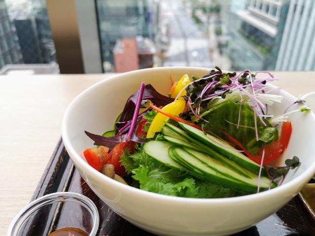 東京・「ホテル龍名館東京」花ごよみ東京(朝食・東京ブッフェ)サラダ