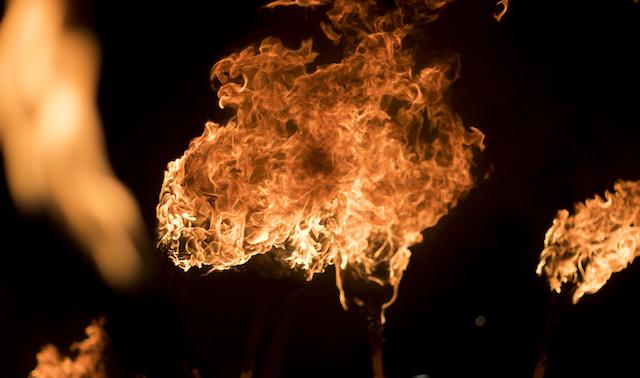 スコットランドの火の玉