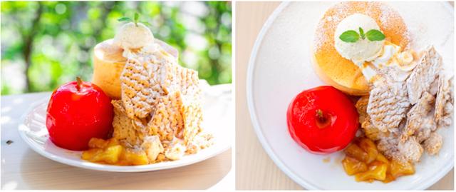 まるまるりんごのミルフィーユパンケーキ