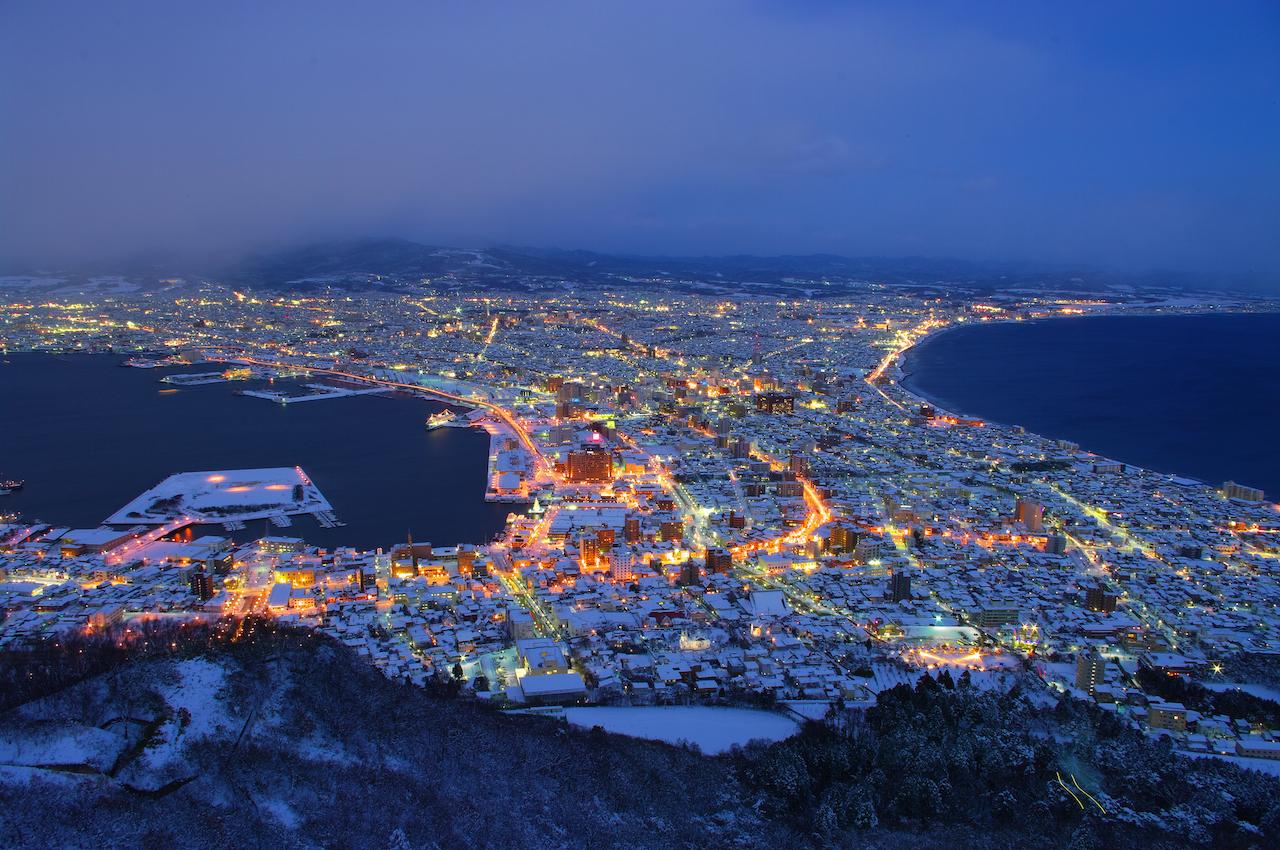 函館山からの函館市街地の夜景