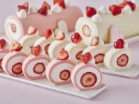 ストロベリーロールケーキ(ピンク・ホワイト)