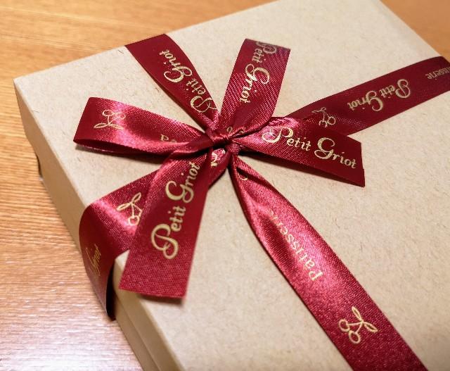 LikeSweetsBOX・スイーツ巡り便・茨城県石岡市「お菓子工房プティグリオ」包装のリボン