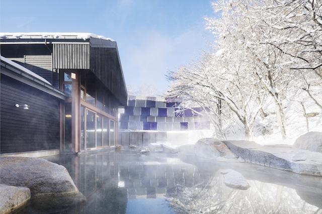 【星のや軽井沢】冬のトンボの湯(露天)