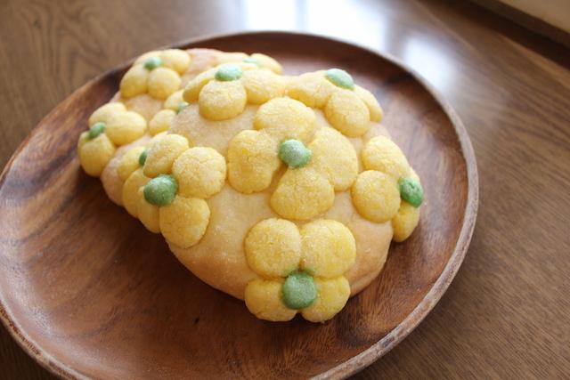 菜の花メロンパン作り
