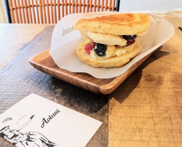 熊本県・熊本市ハワイアンカフェ「Aolani Parlor」パンケーキアイスサンド