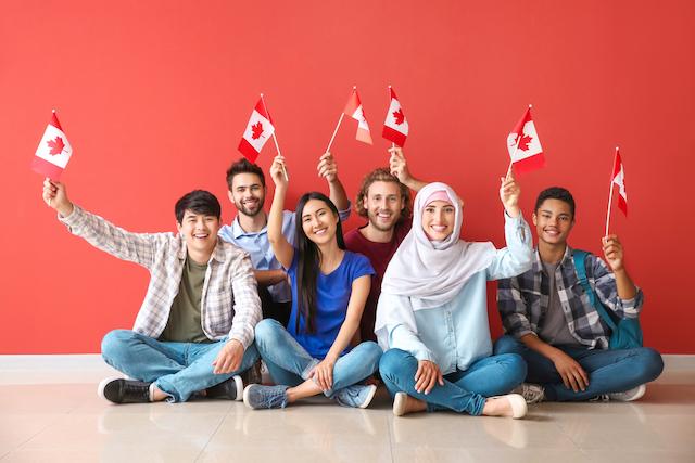 カナダの人の集まり