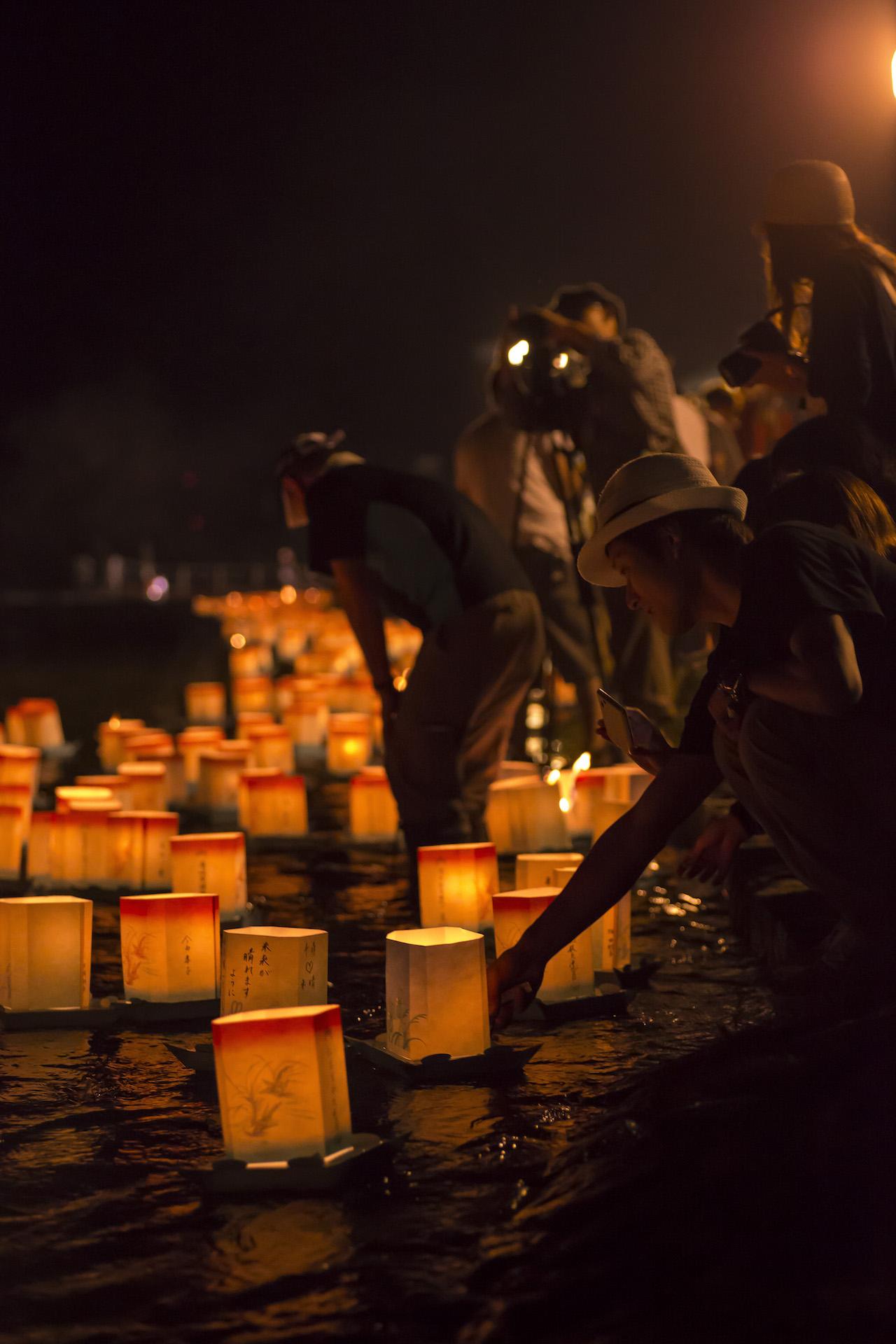 九頭竜フェスティバル 永平寺大燈籠ながし2