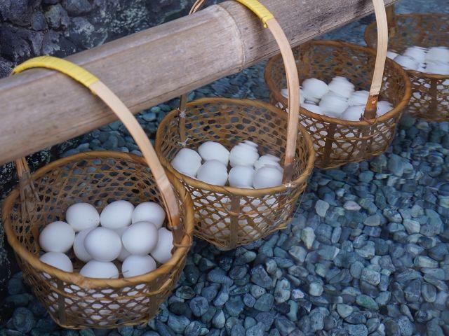 群馬県草津温泉温泉卵
