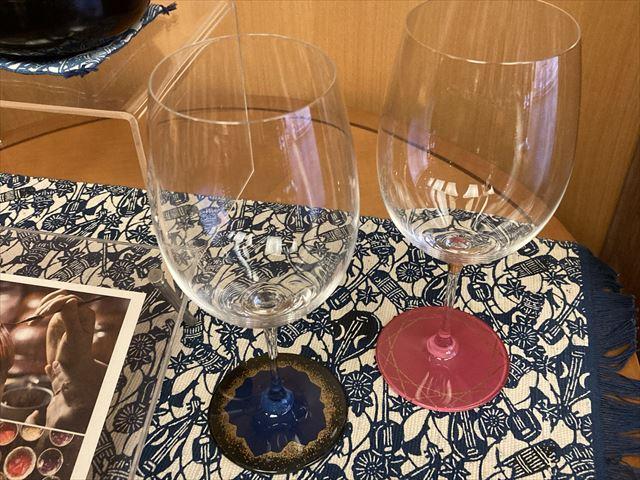 漆塗ワイングラス