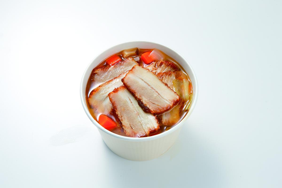 焼豚入り中華風春雨スープ