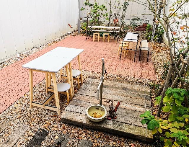 熊本県熊本市・ソーシャルデザインパークカフェ「OMOKEN PARK」中庭