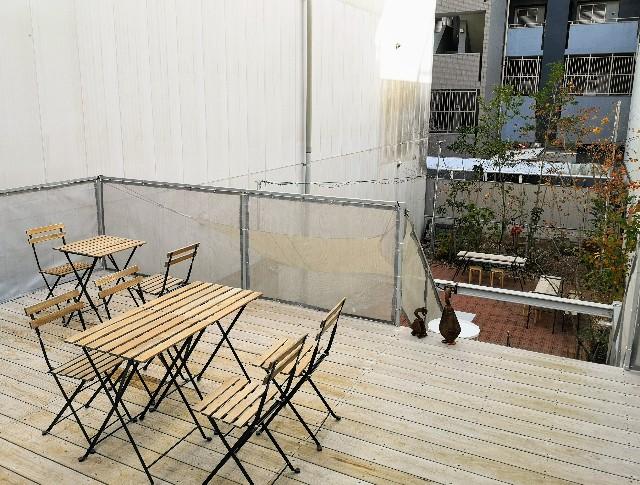 熊本県熊本市・ソーシャルデザインパークカフェ「OMOKEN PARK」2階テラス
