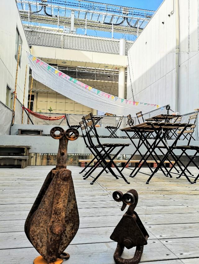 熊本県熊本市・ソーシャルデザインパークカフェ「OMOKEN PARK」ウッドテラス