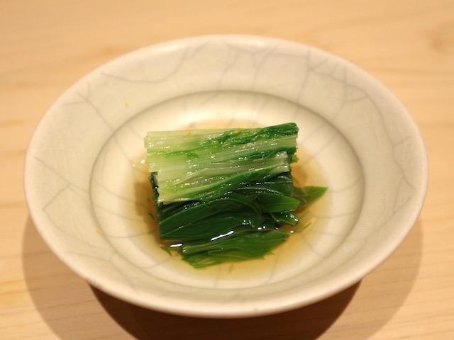 水菜のおひたし