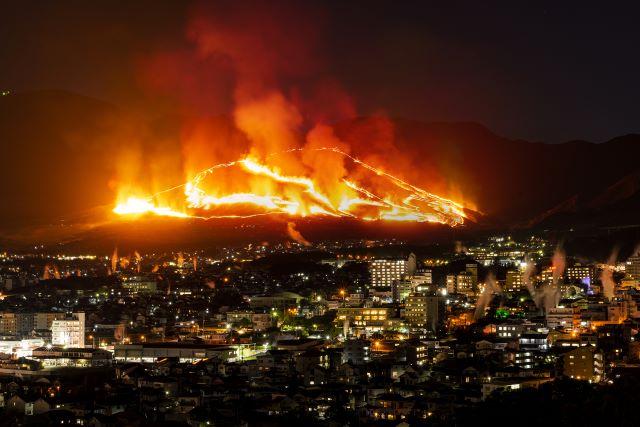 グランシア別府鉄輪 扇山火まつり