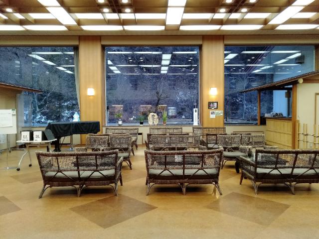 横谷温泉旅館ロビー