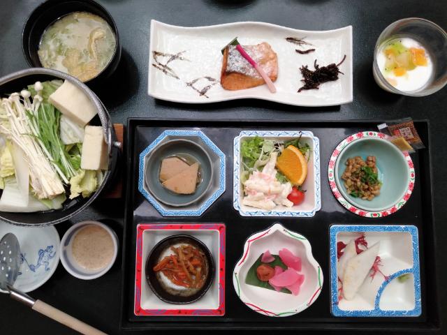 横谷温泉旅館朝食