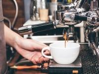 カフェのコーヒーマシン