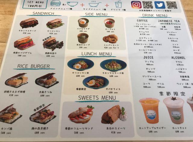 川間食堂 メニュー