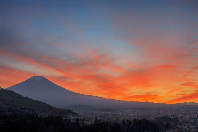 杓子山ゲートウェイキャンプ 夕陽