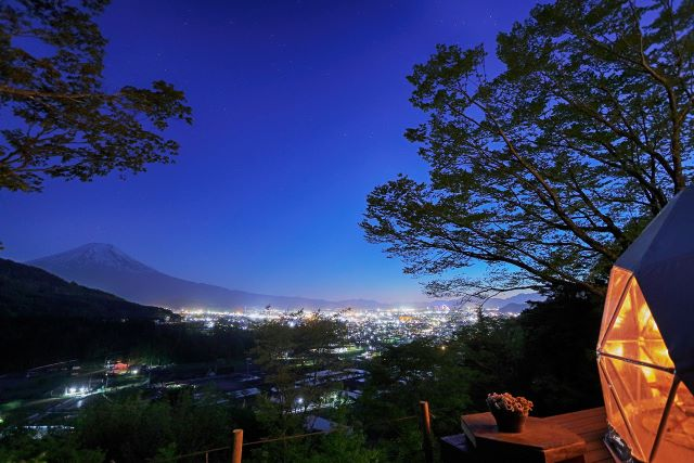 杓子山ゲートウェイキャンプ 夜景