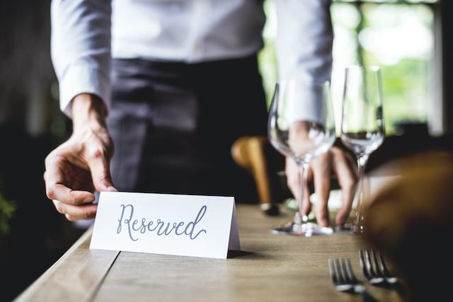 テーブルの予約