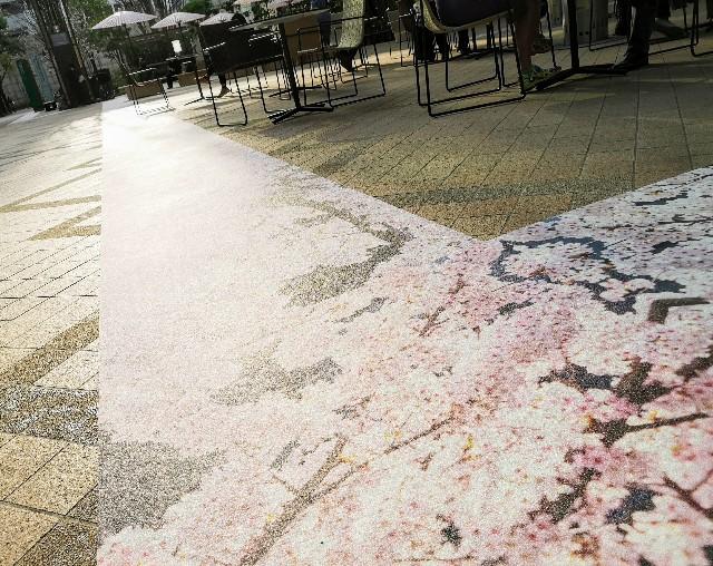 東京・日本橋「SAKURA FES NIHONBASHI 2021」COREDO室町テラス大屋根広場の桜の道