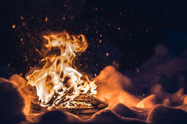 ラフォーレグランピングフィールド 焚火