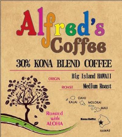 アルフレッドズコーヒー コナ30%ブレンドコーヒー
