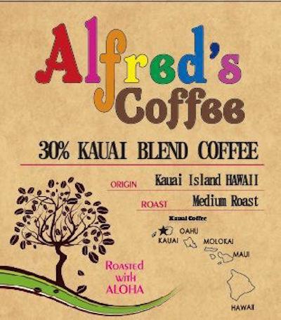 アルフレッドズコーヒー カウアイ30%ブレンドコーヒー