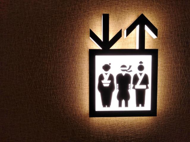 ラ・ジェント・ホテル新宿歌舞伎町エレベーターサイン