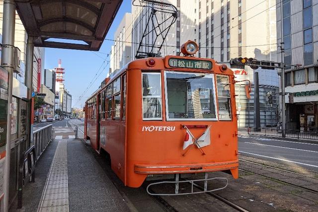 愛媛県松山市路面電車