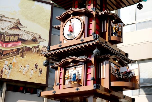 愛媛県松山市坊っちゃんカラクリ時計