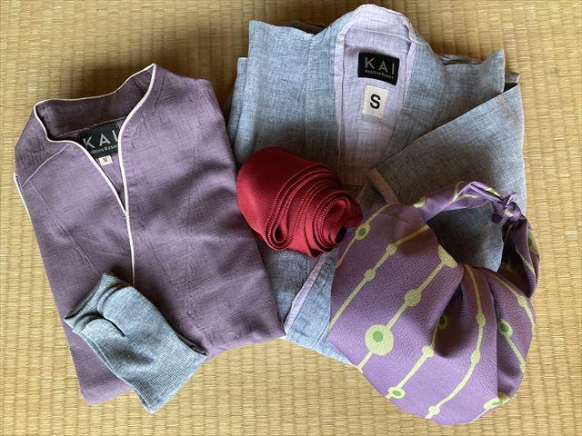 界 作務衣と浴衣