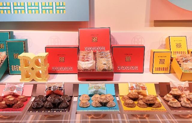 東京・池袋、東京駅スイーツ店「BUTTER STATE's」バターステイツ5種ディスプレイ