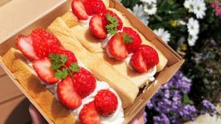 東京・恵比寿スチーム⽣⾷パン専⾨店「STEAM BREAD EBISU(スチームブレッド エビス)」あふれでるクリームの#フルーツスチパンサンドと花