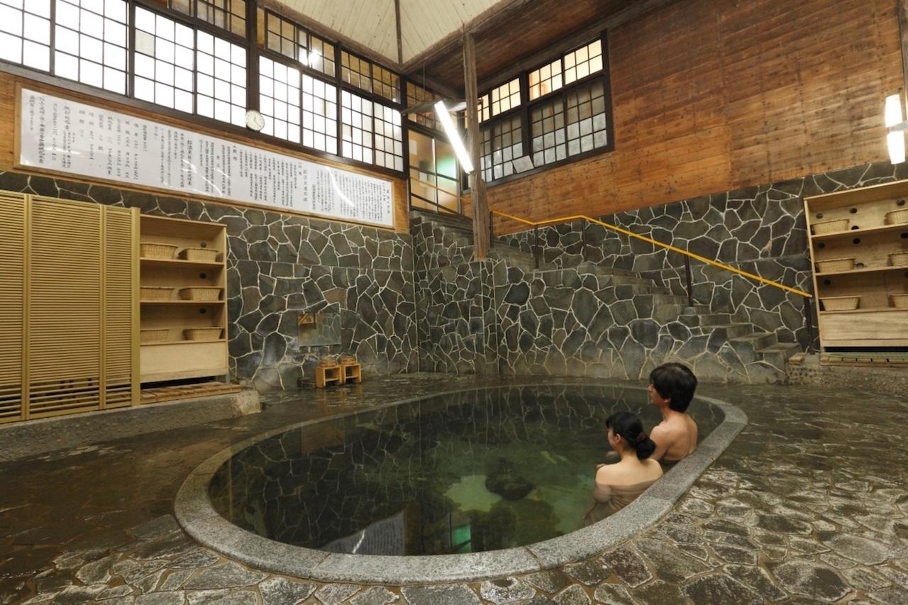 鉛温泉 藤三旅館 白猿の湯 混浴
