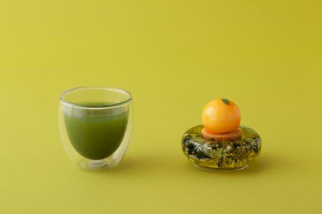 抹茶とオレンジ