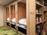 愛知県・名古屋市「アットインホテル名古屋駅」女性限定カプセルホテルエリア「アットキャビン」内部