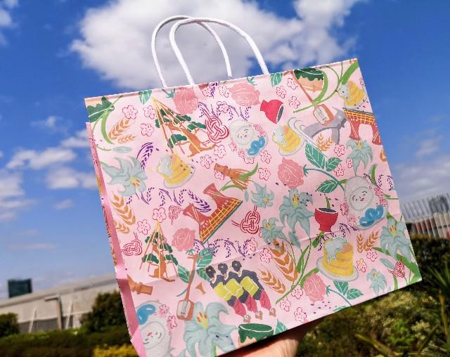 石川県・パンケーキカフェ「Cafe たもん」ショップバッグ