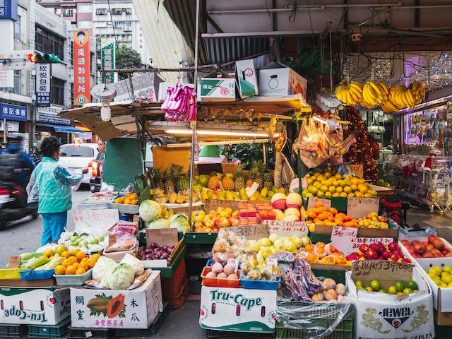台湾のローカル市場