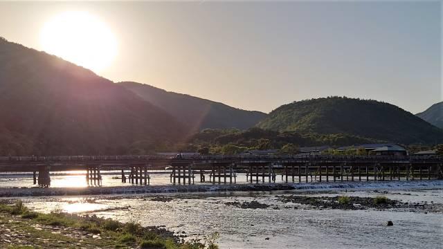 渡月橋夕景
