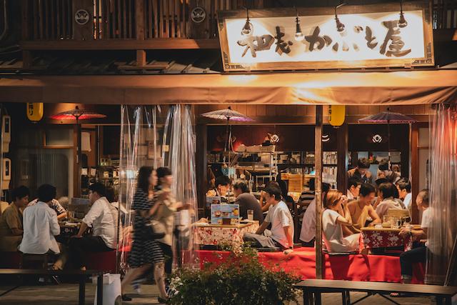 テラス席のある飲食店