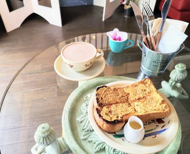 奈良県奈良市・自家焙煎コーヒーと店内で焼き上げる高級食パンの店「天迦久珈琲」ココアとトースト