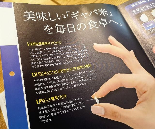 東京都・秋葉原「おむすびのGABA 秋葉原店」GABAライスパンフレット