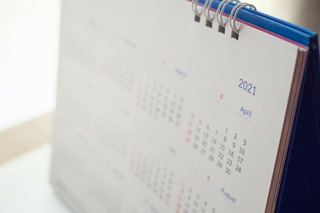 2021年のカレンダー