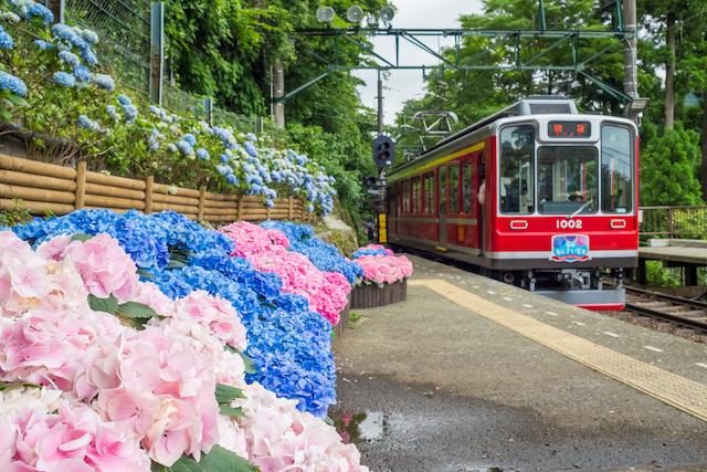 神奈川県箱根町箱根登山鉄道強羅駅