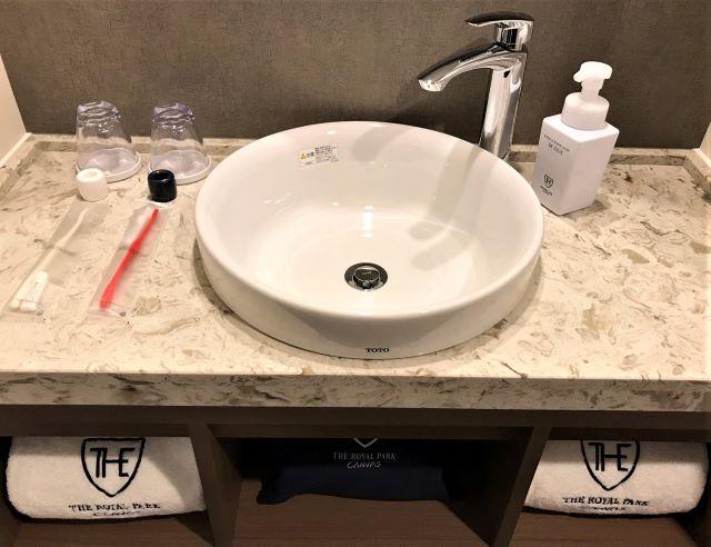 ザ ロイヤルパーク キャンバス 京都二条 洗面台