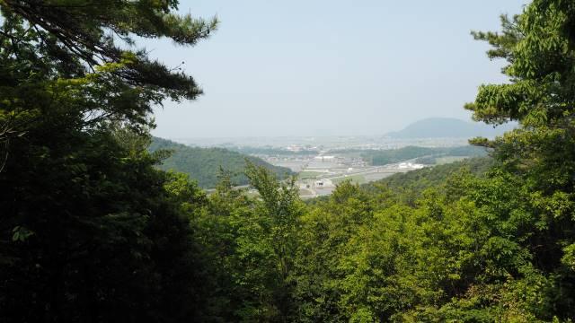 小谷城跡からの眺め