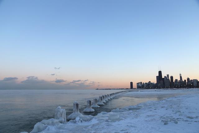 シカゴ ミシガン湖
